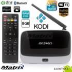 מתאם לטלויזיה חכמה ANDROID SMART TV BOX - זכרון פנימי 2GB + 8GB אחסון דגם Q7 CS918 MK888B