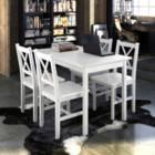 פינת אוכל מעץ מלא הכוללת שולחן + 4 כסאות דגם לנה